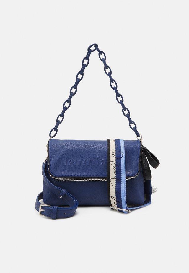 BOLS EMBOSSED HALF LOGO VENECIA - Across body bag - blue