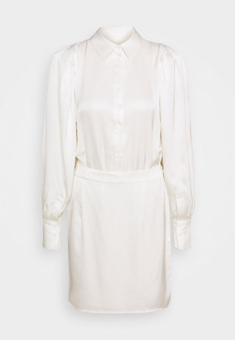 DESIGNERS REMIX - EMMY SHORT DRESS - Košilové šaty - cream