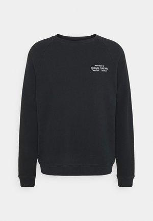 PLATE CREST CREW - Sweatshirt - black