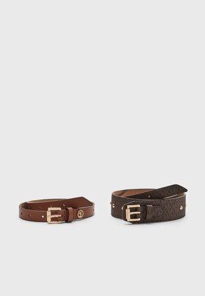 STUDDED SET - Belt - brown/gold
