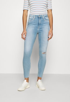 HIGH RISE SUPER SKINNY ANKLE - Jeans Skinny - blue