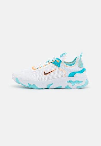 REACT LIVE UNISEX - Sneakers basse - white/black/total orange/chlorine blue