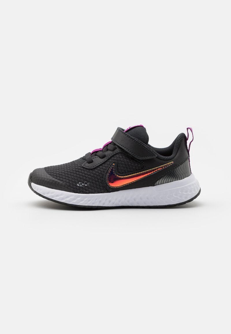 Nike Performance - REVOLUTION 5 POWER UNISEX - Neutral running shoes - off noir/multicolor/red plum/white