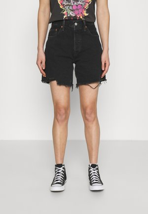 501® MID THIGH SHORT - Denim shorts - lunar black