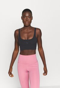 Nike Performance - YOGA LUXE CROP TANK - Sports shirt - black/dark smoke grey - 0