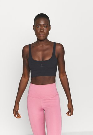YOGA LUXE CROP TANK - Sports shirt - black/dark smoke grey