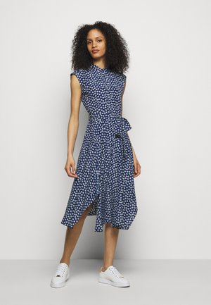 DRESS - Skjortekjole - french navy/multi