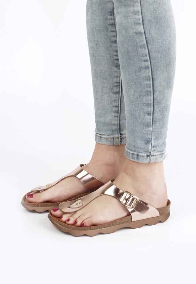ROSAS  - Sandaler m/ tåsplit - beige
