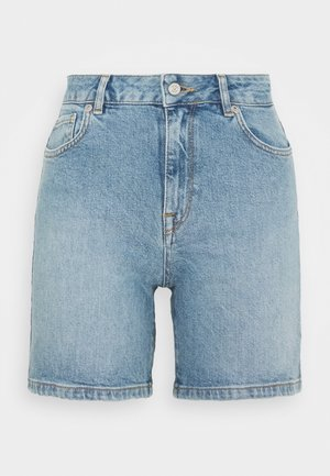 SLFSILLA BAYSIDE FOLD UP - Shorts - medium blue denim