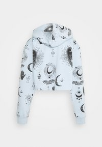 Missguided - PRINT CROPPED HOODY - Jersey con capucha - dusky blue - 1