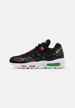 AIR MAX 95 SE - Sneaker low - black/white/green strike/flash crimson
