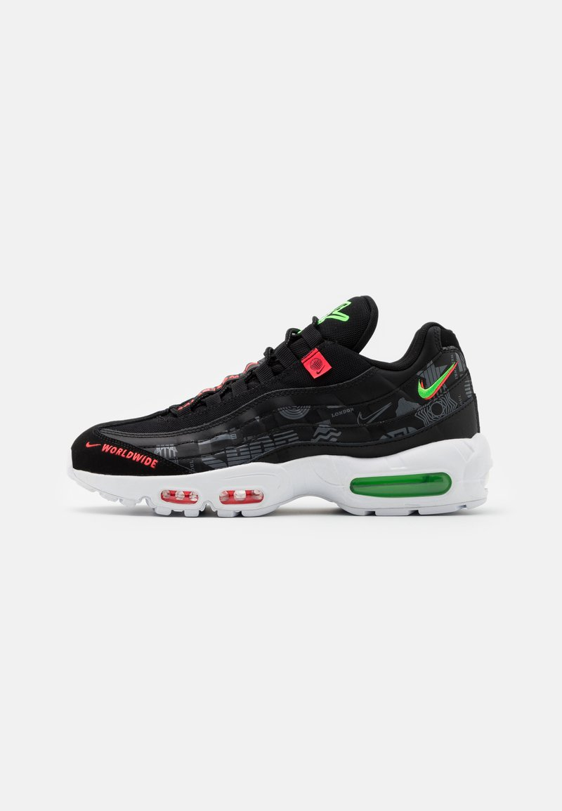 Nike Sportswear - AIR MAX 95 SE - Sneakers - black/white/green strike/flash crimson