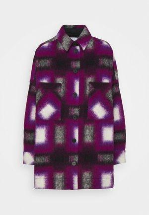 HARWEL - Short coat - natural white/purple