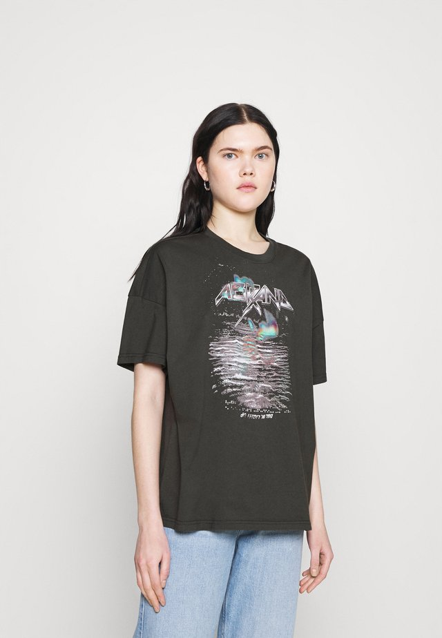 A OVERSIZED VINTAGE TEE - T-shirt imprimé - black fade