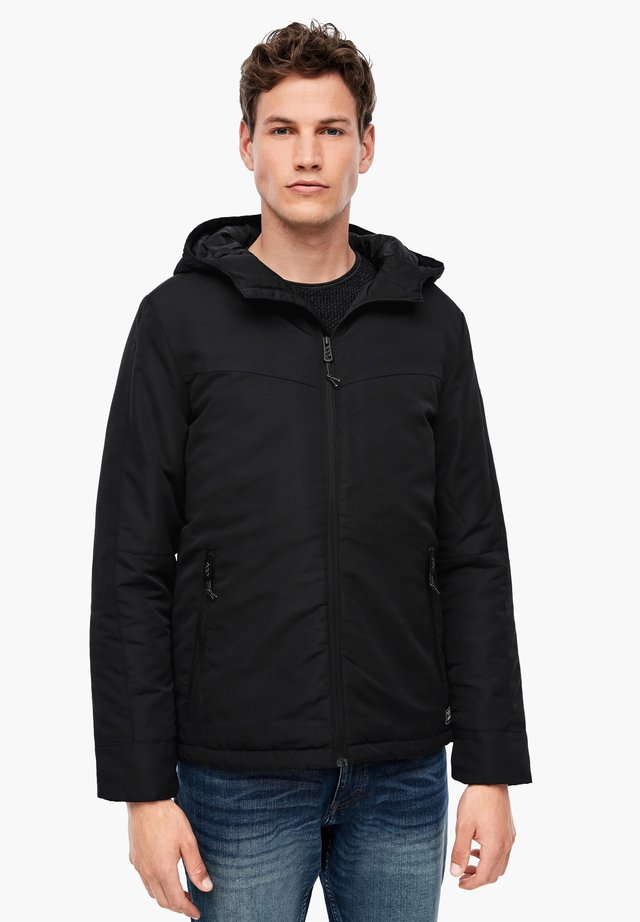 MIT WARMER WATTIERUNG - Winter jacket - black