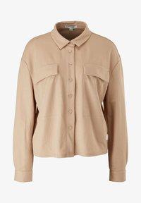 comma casual identity - Button-down blouse - dark beige - 4