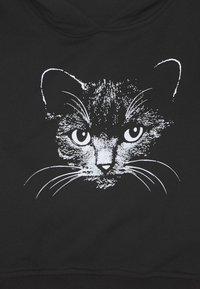 Mister Tee - KIDS CAT CROPPED HOODY - Hoodie - black - 2