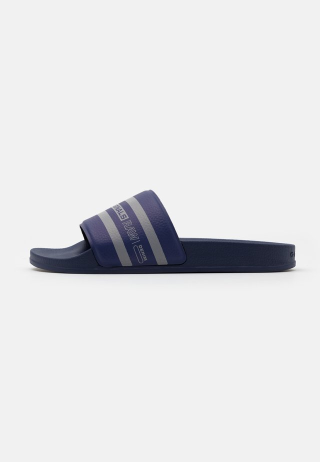 CART SLIDE IV - Pantofle - imperial blue/slab grey