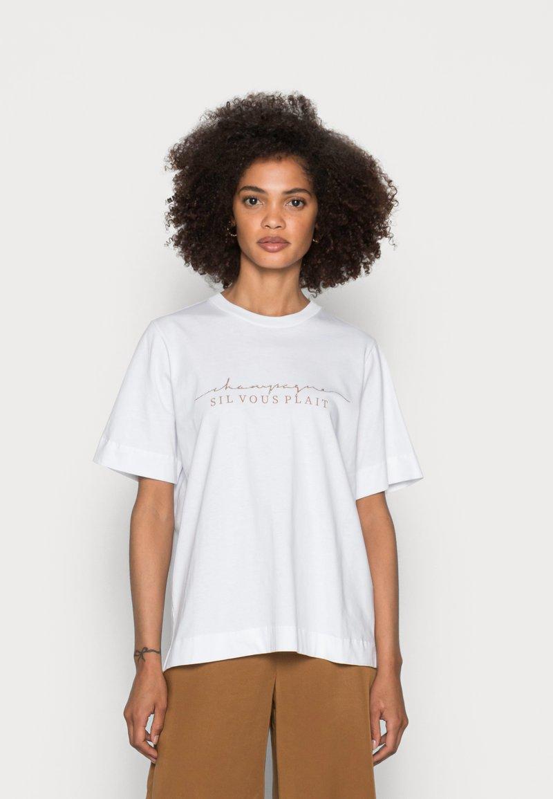 Rich & Royal - SIL VOUS PLAIT - Print T-shirt - white