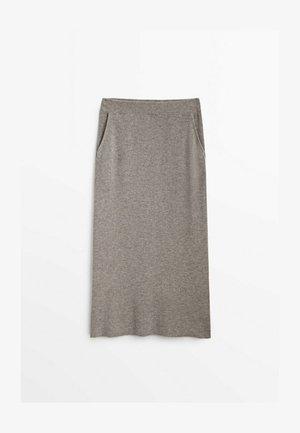 A-line skirt - light grey
