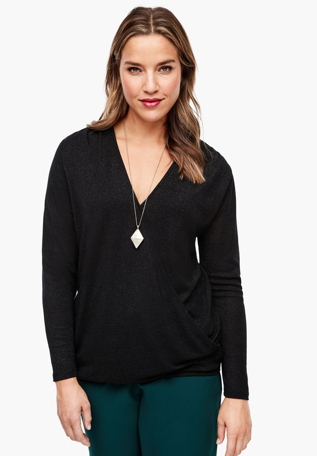 MIT GLITZERGARN - Blouse - black