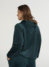 Zizzi - SAMT - Zip-up hoodie - dark green - 2