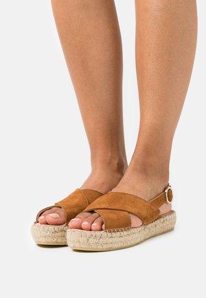 MARLIE - Platform sandals - cognac