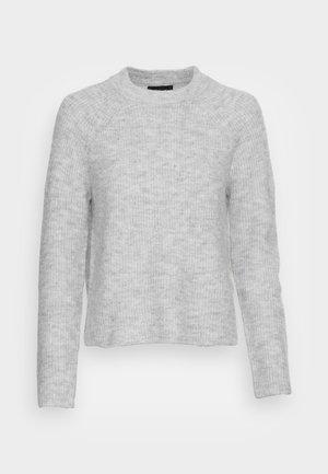 PCELLEN  O NECK - Strikkegenser - light grey melange