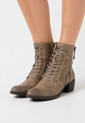 Lace-up ankle boots - pepper