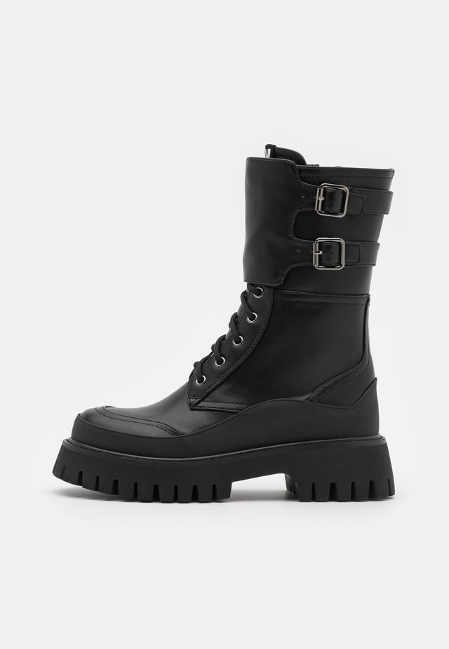 VEGAN NIGHTWOLF - Bottes à plateau - black