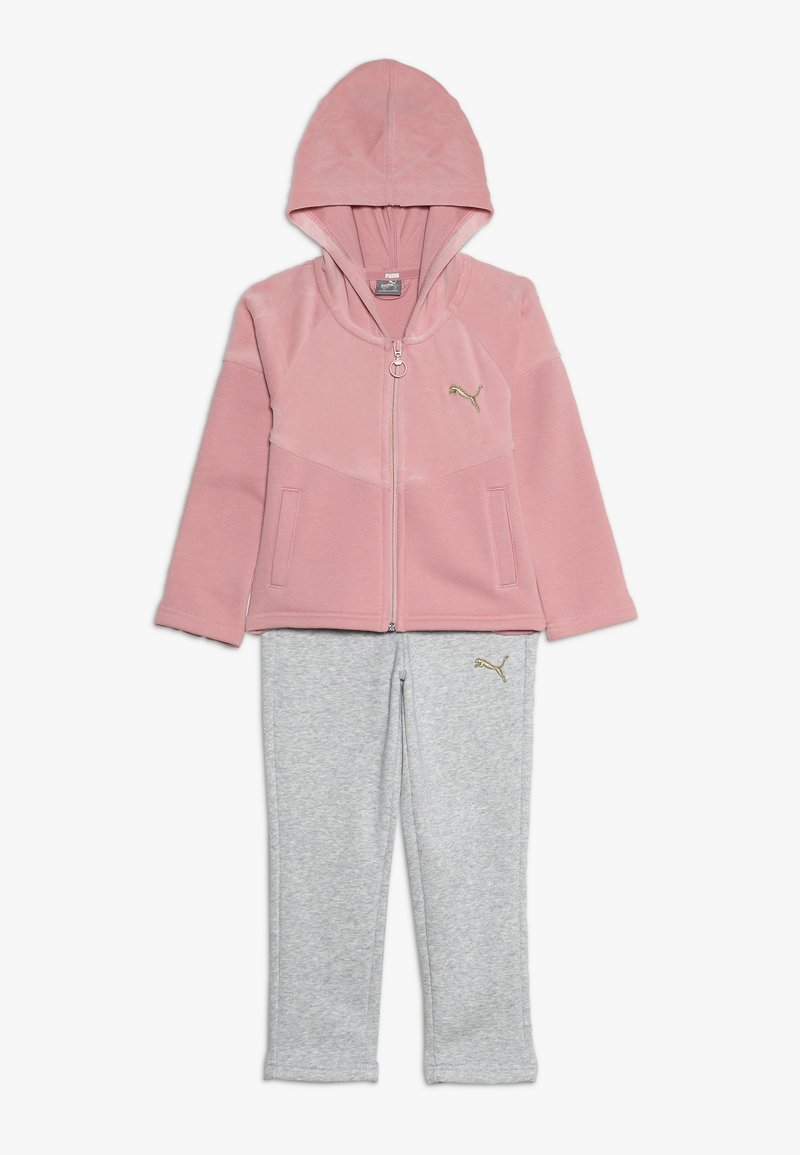 Puma - HOODED MIX SUIT - Tracksuit - bridal rose
