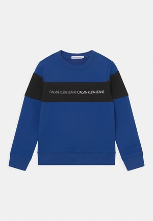 COLOUR BLOCK LOGO  - Sweater - blue