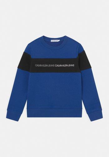 COLOUR BLOCK LOGO  - Sweatshirt - blue
