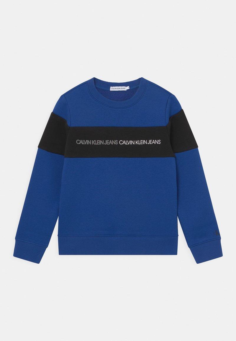 Calvin Klein Jeans - COLOUR BLOCK LOGO  - Sweatshirt - blue
