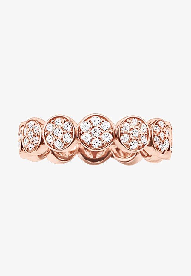 SPARKLING CIRCLES - Ring - roségold