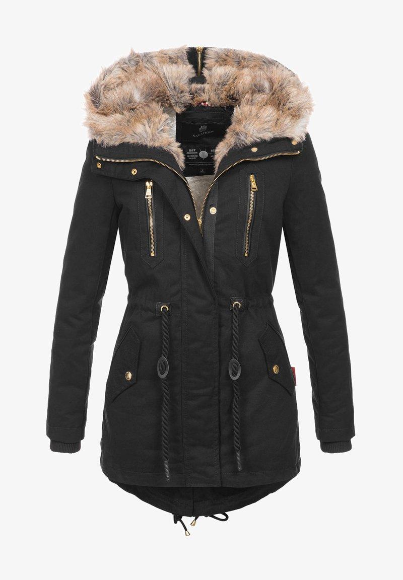 Navahoo - Winter coat - schwarz