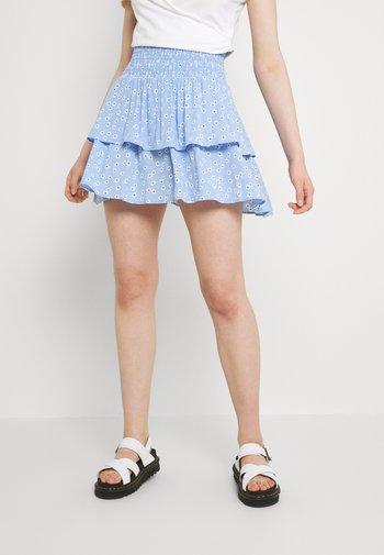 ENLEMON SKIRT  - Mini skirt - light blue