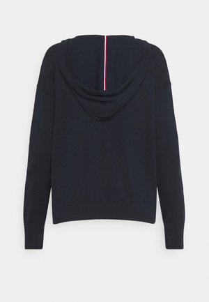HOODIE OPEN NECK - Pullover - blue