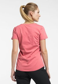 Haglöfs - MIRTH TEE - Print T-shirt - rusty pink/maroon red - 1
