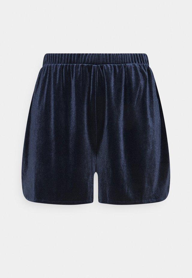 VIVELVETTA - Shorts - navy blazer