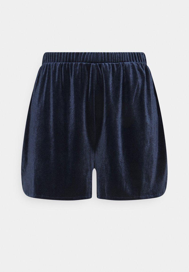 Vila - VIVELVETTA - Shorts - navy blazer