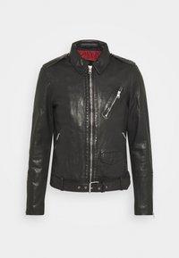 AllSaints - MONZA JACKET - Leather jacket - black - 3