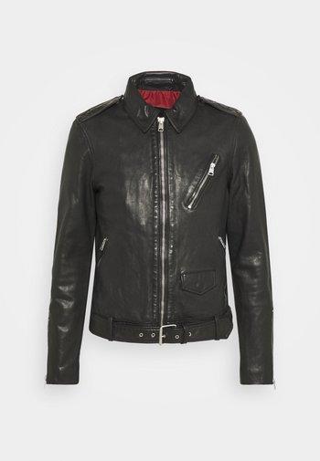 MONZA JACKET - Leather jacket - black