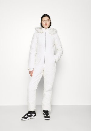 SKI QUILTED CORSET SNOW - Kombinezon - white