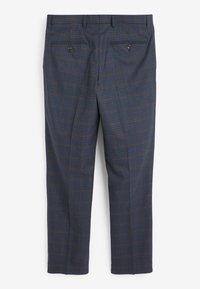 Next - REGULAR FIT CHECK SUIT - Pantaloni eleganti - blue - 2