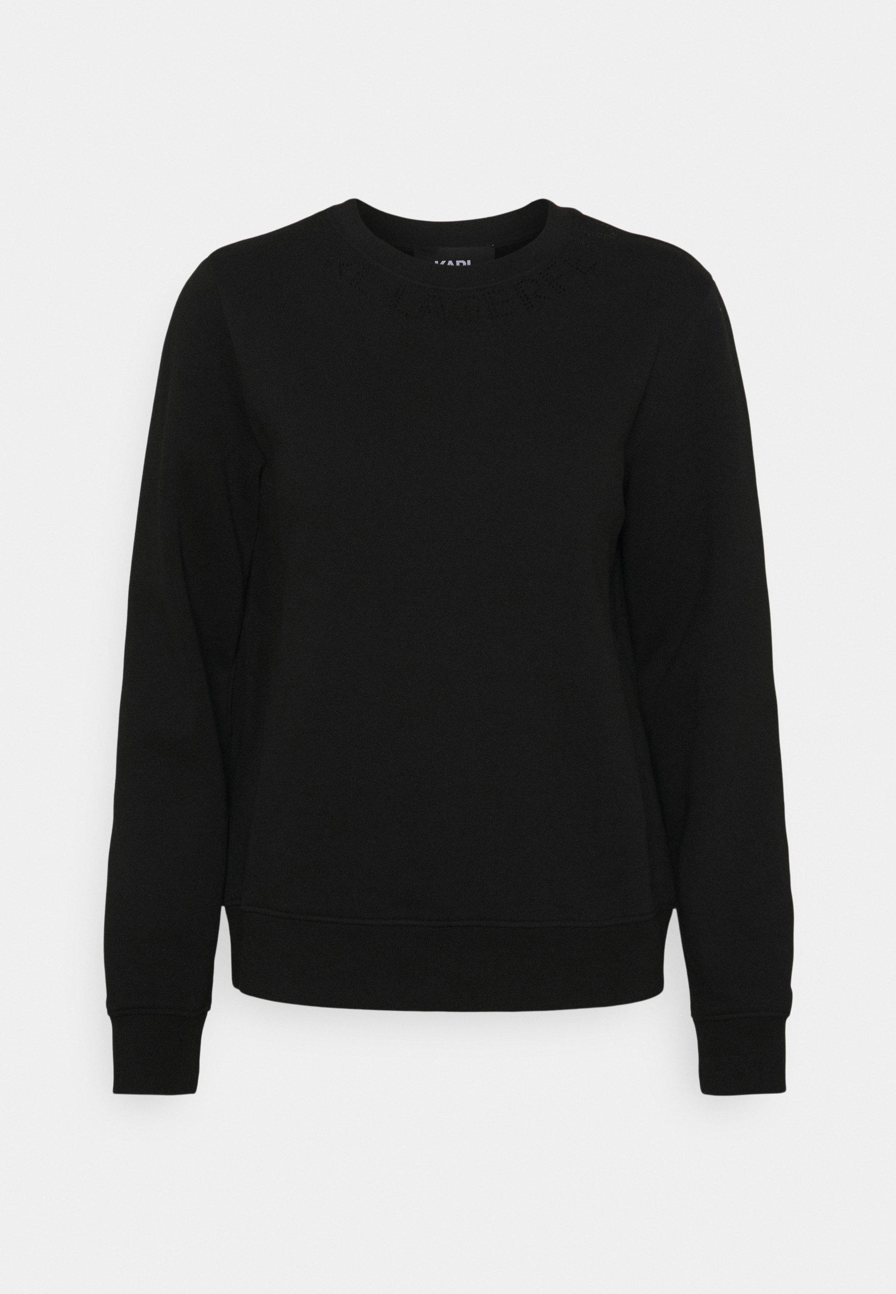 Women RHINESTONE LOGO NECK - Sweatshirt