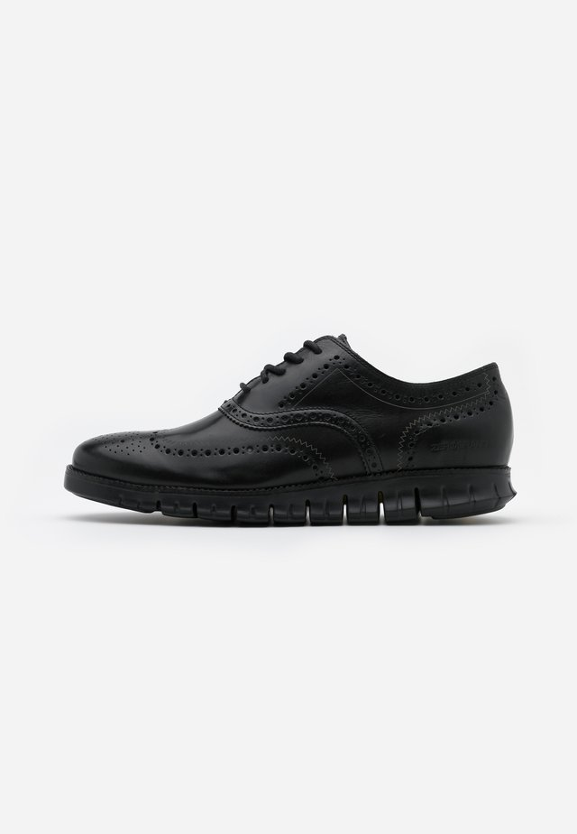 ZEROGRAND WINGTIP OXFORD - Casual snøresko - black
