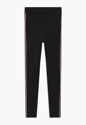 TEENS BLACK STAR STRIPE LINED - Legíny - schwarz