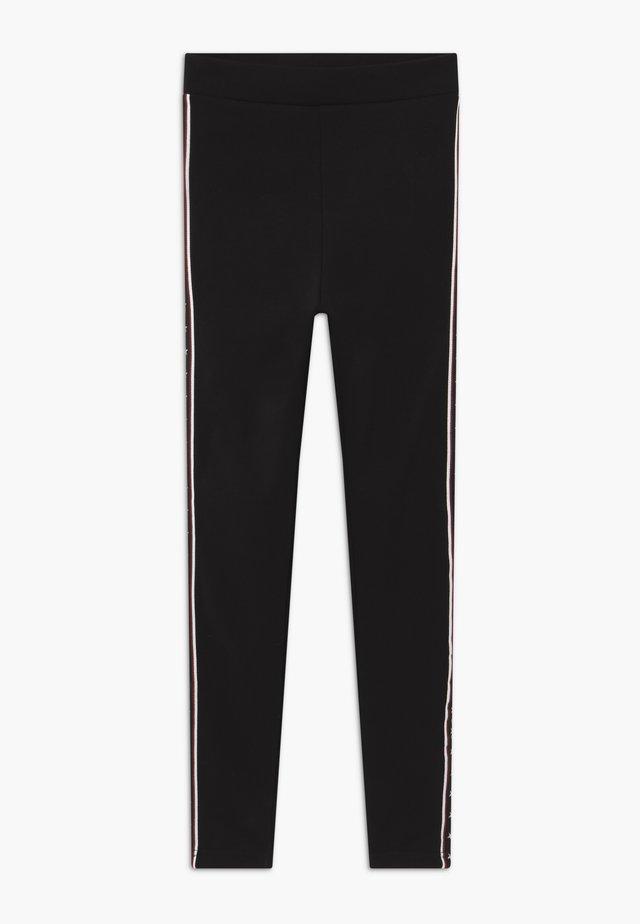 TEENS BLACK STAR STRIPE LINED - Leggings - schwarz