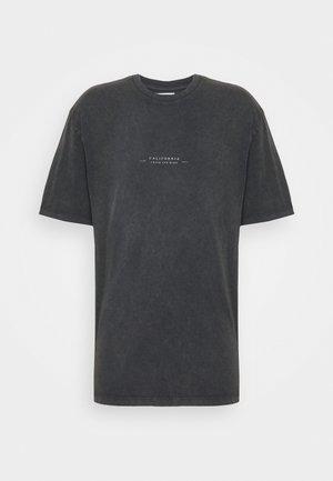 BIRD ON FIRE WASH PRINT  - T-Shirt print - black